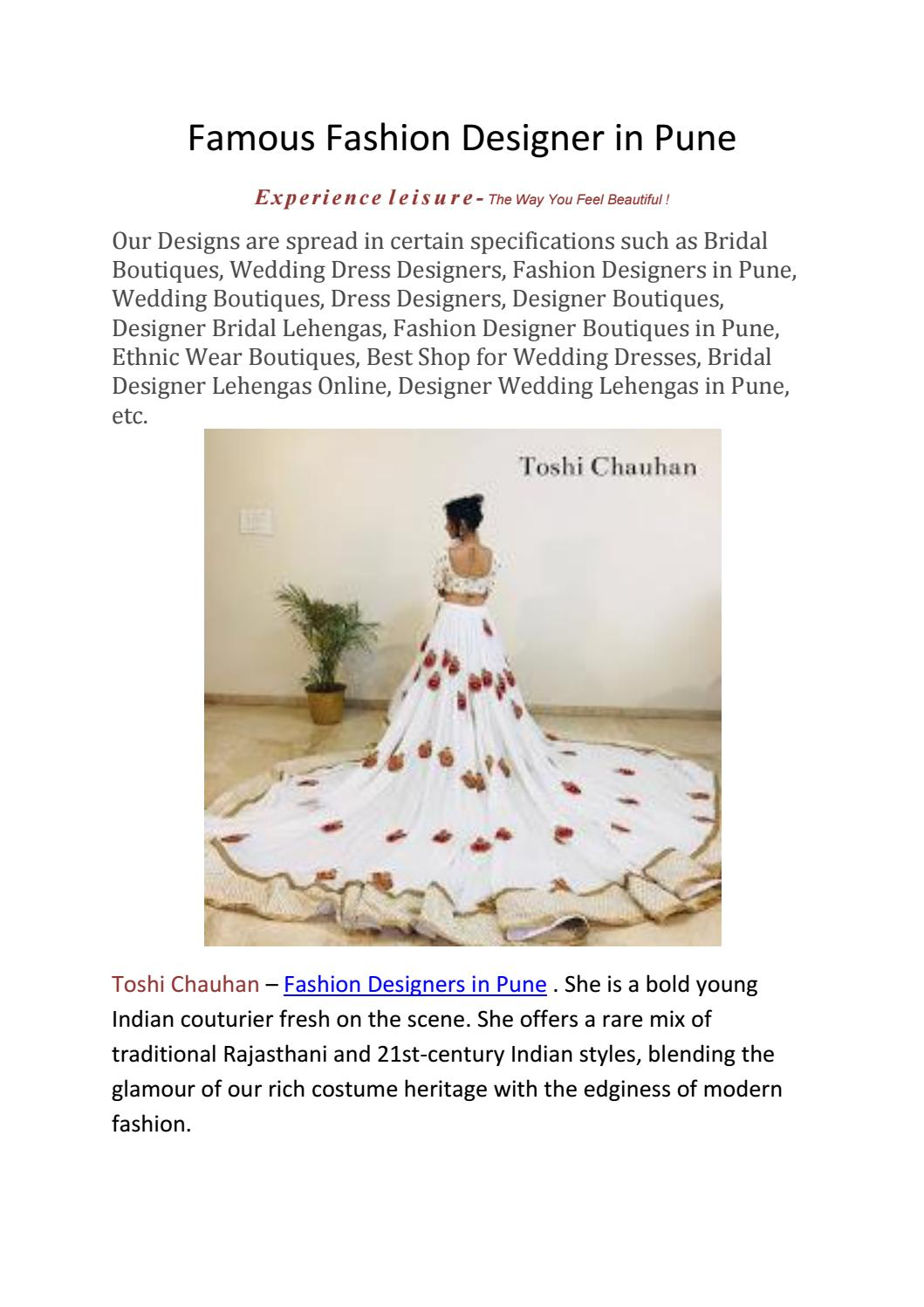 Famous Fashion Designer In Pune By Alpita Kavitake Issuu