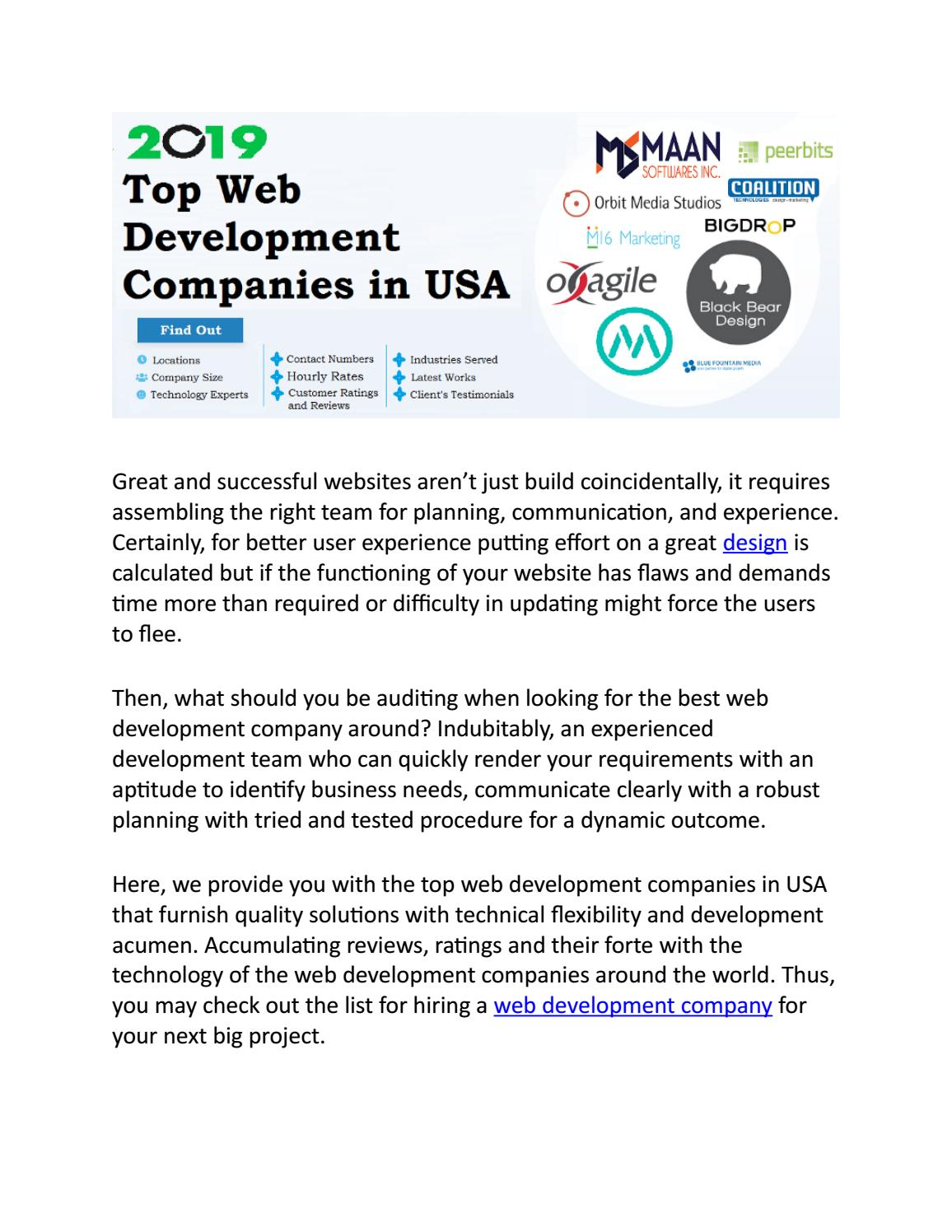 Top Web Development Websites in USA by maansoftwares - issuu