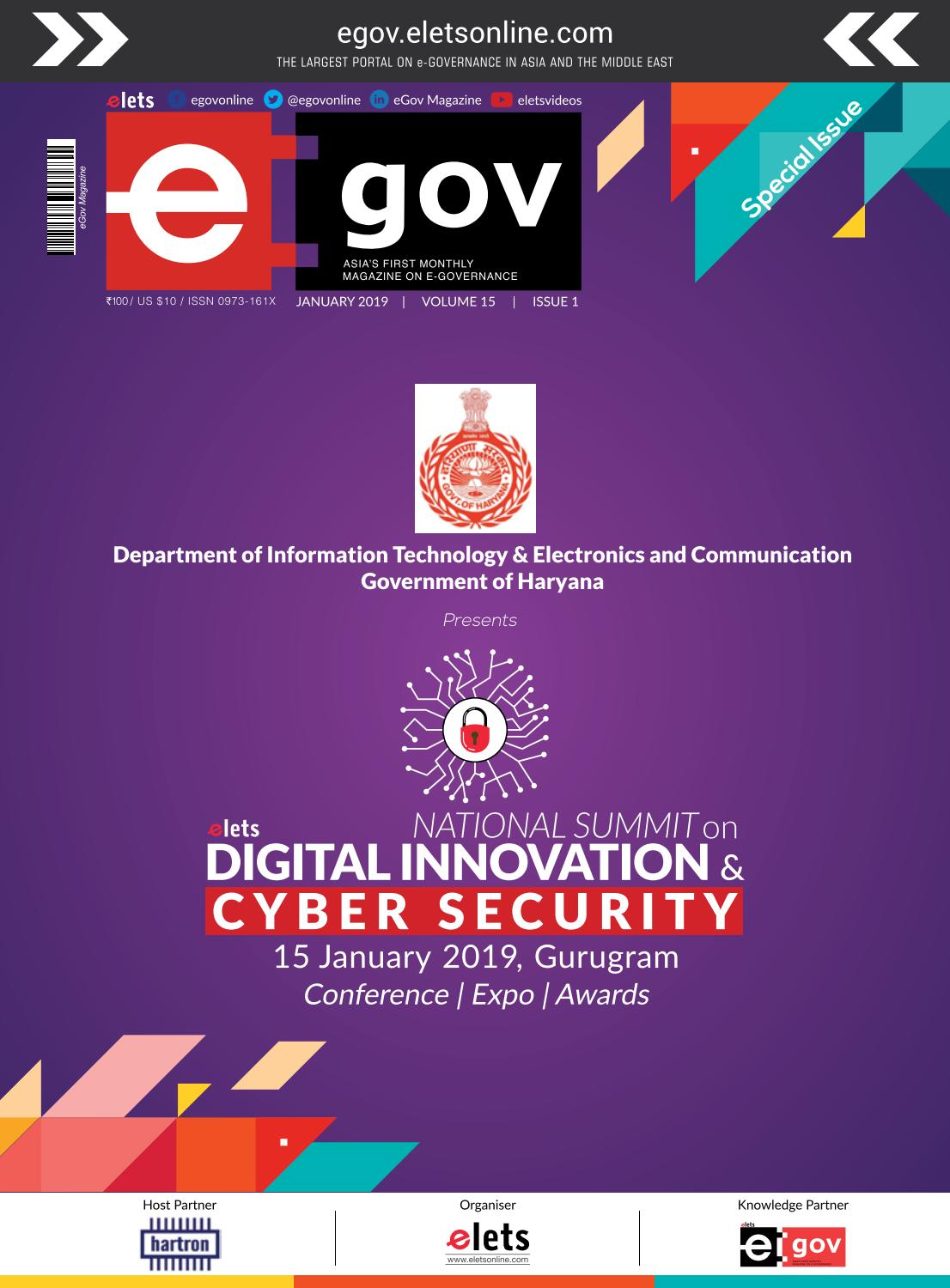 eGov January 2019 by eGov Magazine - Elets Technomedia Pvt Ltd - issuu