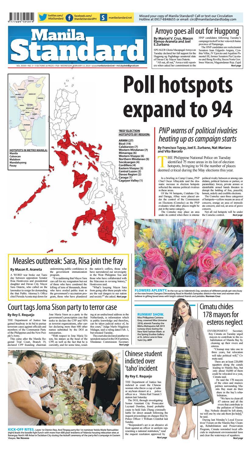 Manila Standard - 2019 February 13 - Wednesday by Manila Standard