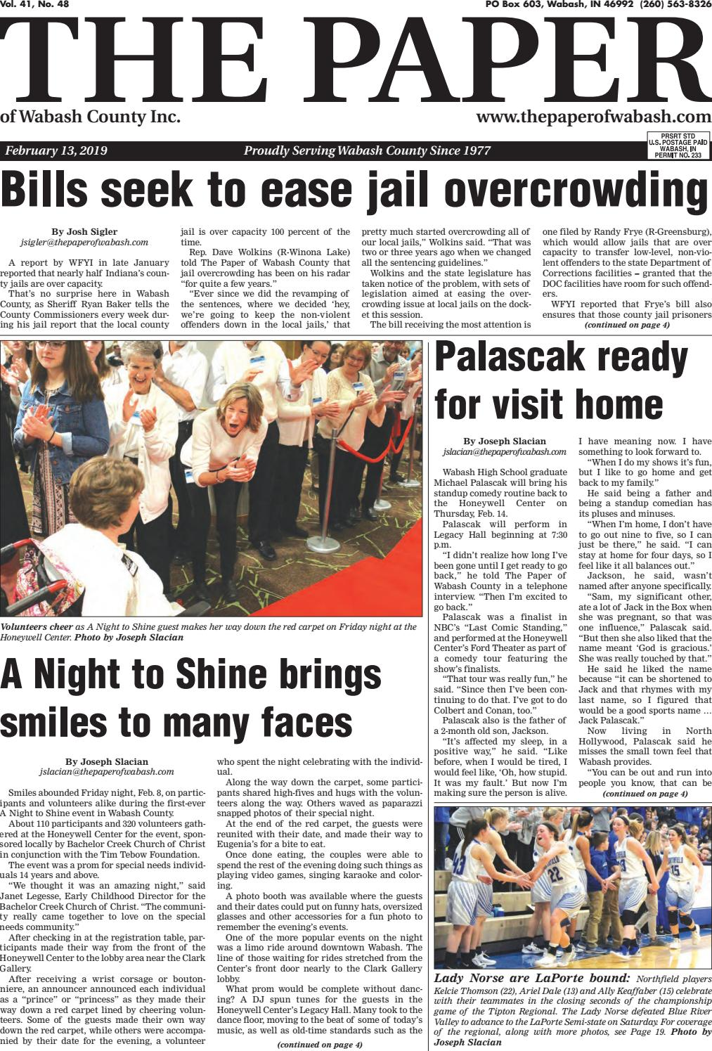 The Paper of Wabash County - Feb  13, 2019, Issue by The