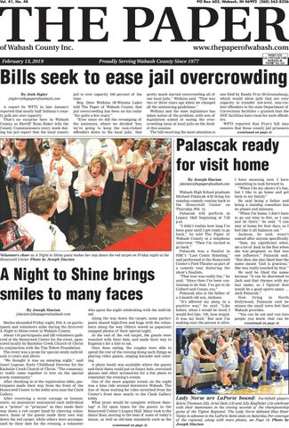 The Paper of Wabash County - Feb  13, 2019, Issue by The Paper of