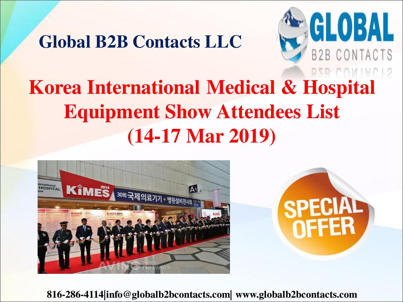 Korea International Medical & Hospital Equipment Show Attendees List