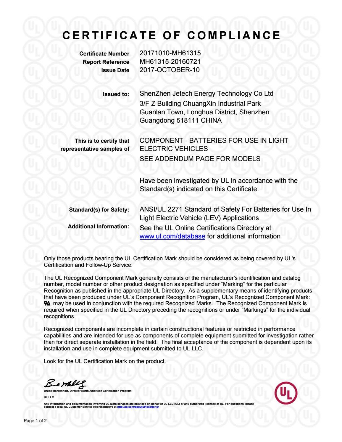 Certificate Of Compliance 1 By Sakar01 Issuu