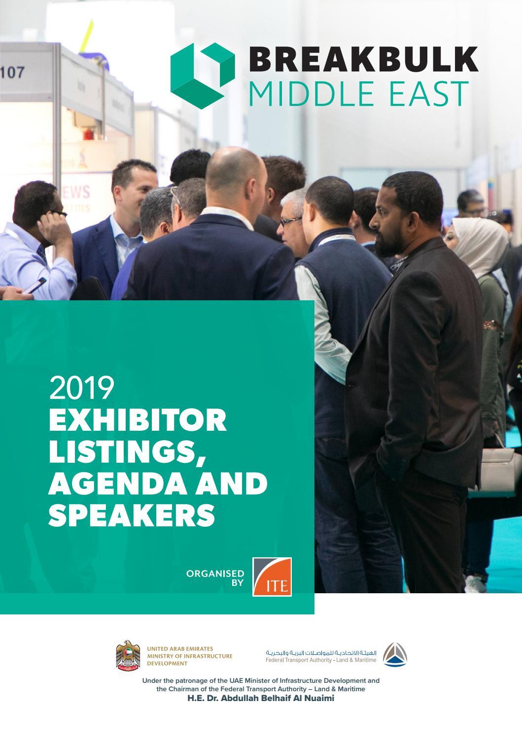 Breakbulk Middle East 2019 Exhibitor Listings, Agenda and