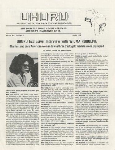 Uhuru Vol  1 Issue 5 by eCommons - issuu