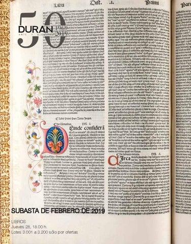 0509ada2ff3a6 Sesiones y Calendario de Subastas Subasta nº 566 Libros y manuscritos  Jueves 28 de febrero de 2019