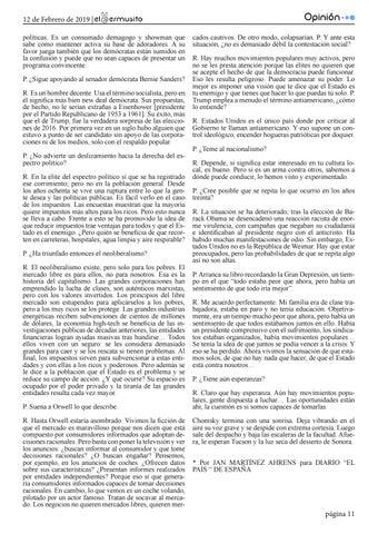 """Page 11 of """"La gente ya no cree en los hechos"""""""
