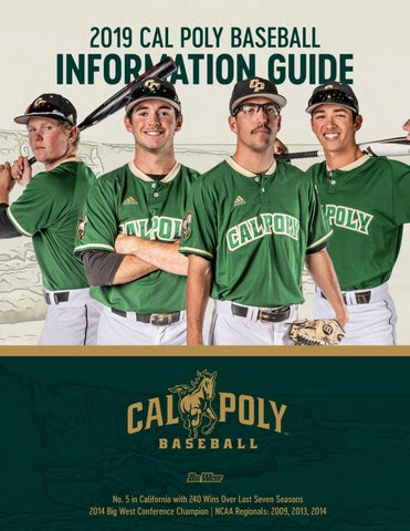 fce50f0446f 2019 Cal Poly Baseball Team Information Guide by Cal Poly Athletics ...