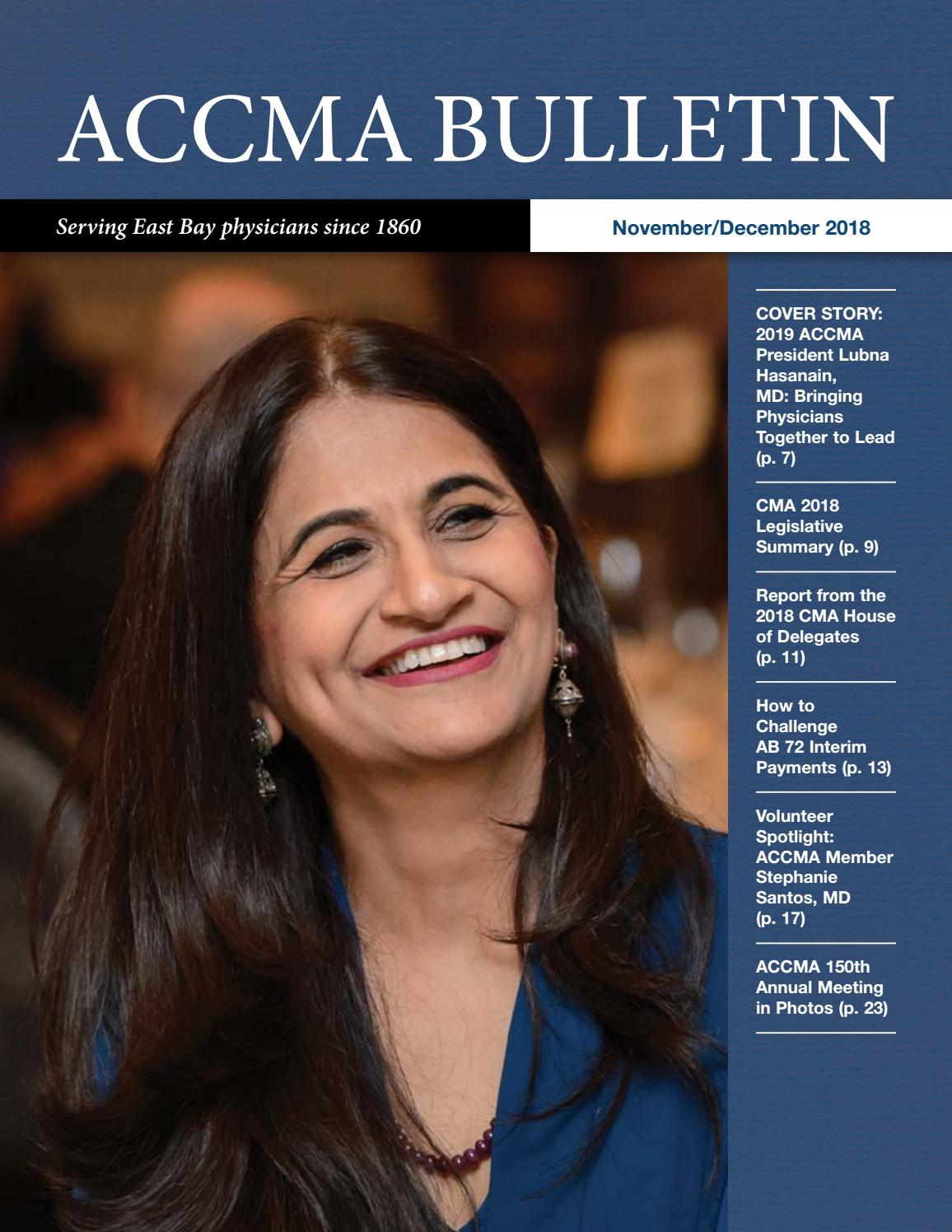 ACCMA November/December 2018 Bulletin by ACCMA - issuu