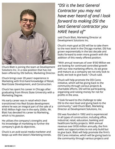 Page 50 of People & Projects - Chuck Blatt is joining the team at Development Solutions Inc.