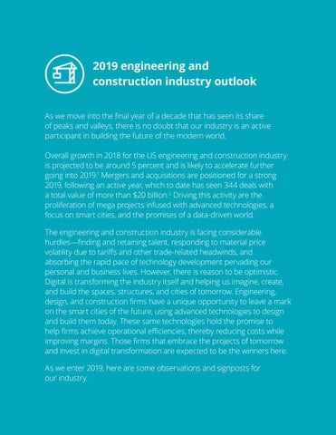 Page 6 of 2019 engineering and construction industry outlook