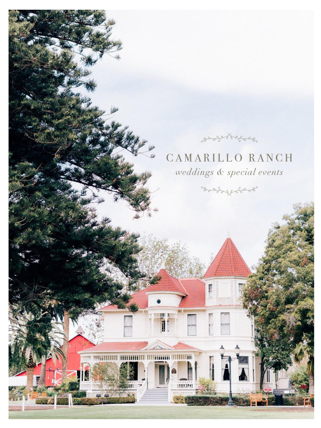 Camarillo Ranch Weddings Special Events Brochure By Meier Publishing Issuu