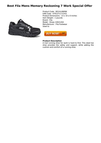 quality design 0e4ed ecb93 Best Fila Mens Memory Reckoning 7 Work Special Offer Buy Best Offer Fila  Men s Memory Reckoning 7 Work Slip Resistant Steel Toe Running Shoe, Black Metallic  ...