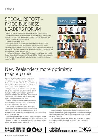 Page 6 of SPECIAL REPORT - FMCG BUSINESS LEADERS FORUM