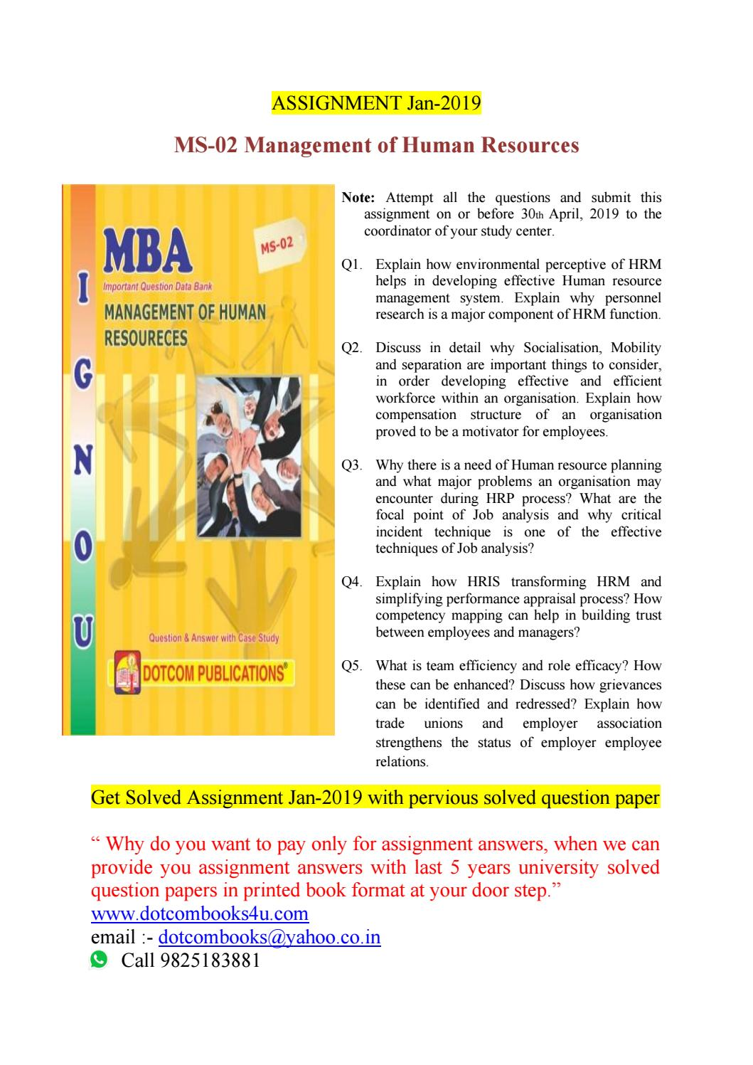 MS-02 Management of Human Resources by dotcombooks - issuu