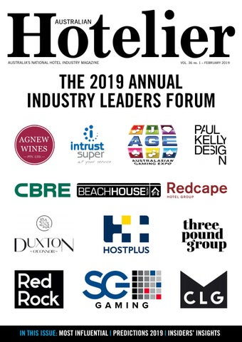 Australian Hotelier February 2019 by The Intermedia Group - issuu