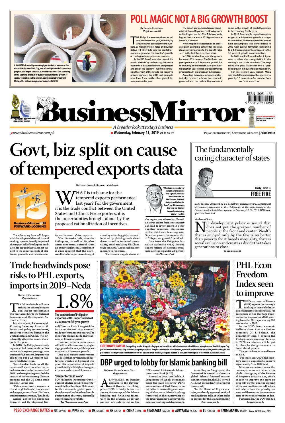 BusinessMirror February 13, 2019 by BusinessMirror - issuu