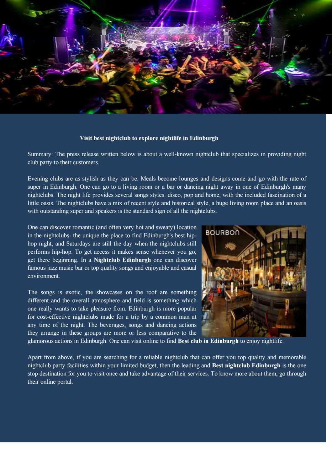 Nightclub Edinburgh by bourbonedin - issuu