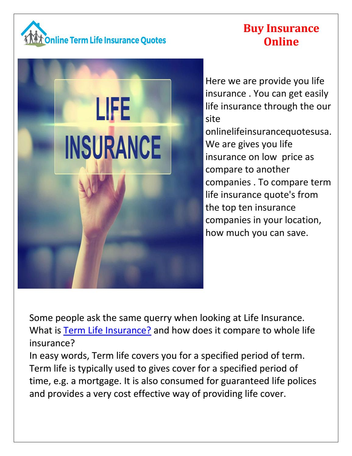 Top Ten Life Insurance Companies >> Buy Life Insruance By Onlinelifeinsurancequotes Issuu