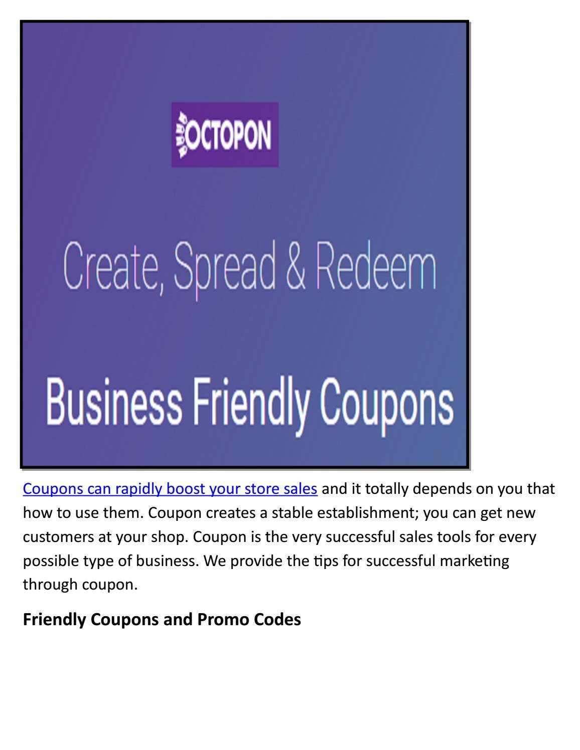 photo regarding Boost Coupons Printable known as Produce your personalized coupon absolutely free printable via Octopon Inc - issuu