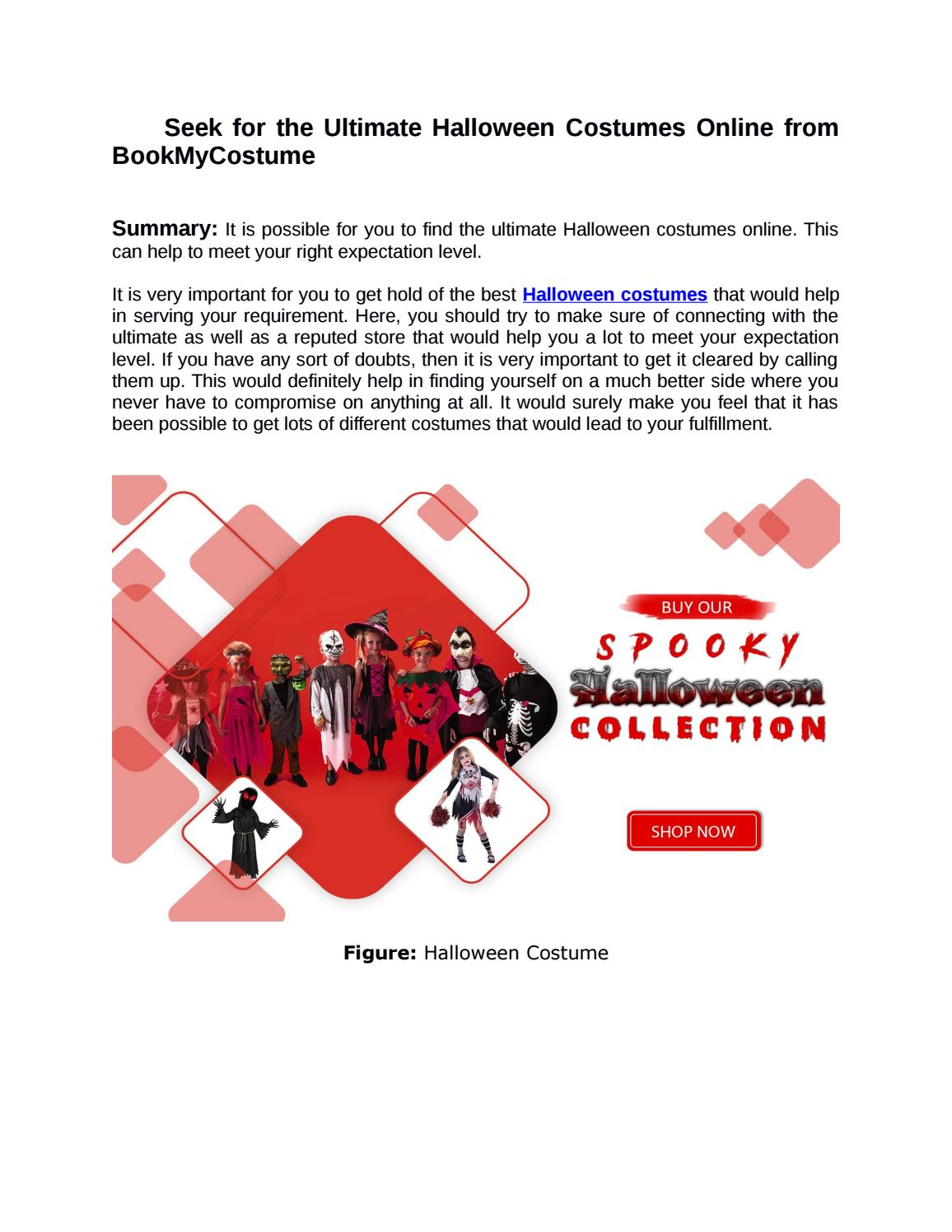 Seek For The Ultimate Halloween Costumes Online From Bookmycostume By Bookmycostume Dress Fancy Issuu