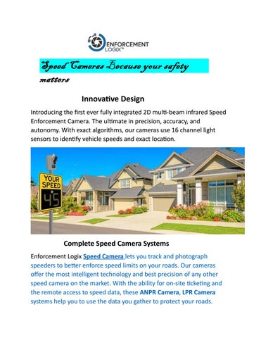 Speed Cameras – Because your safety matters by Enforcement Logix - issuu