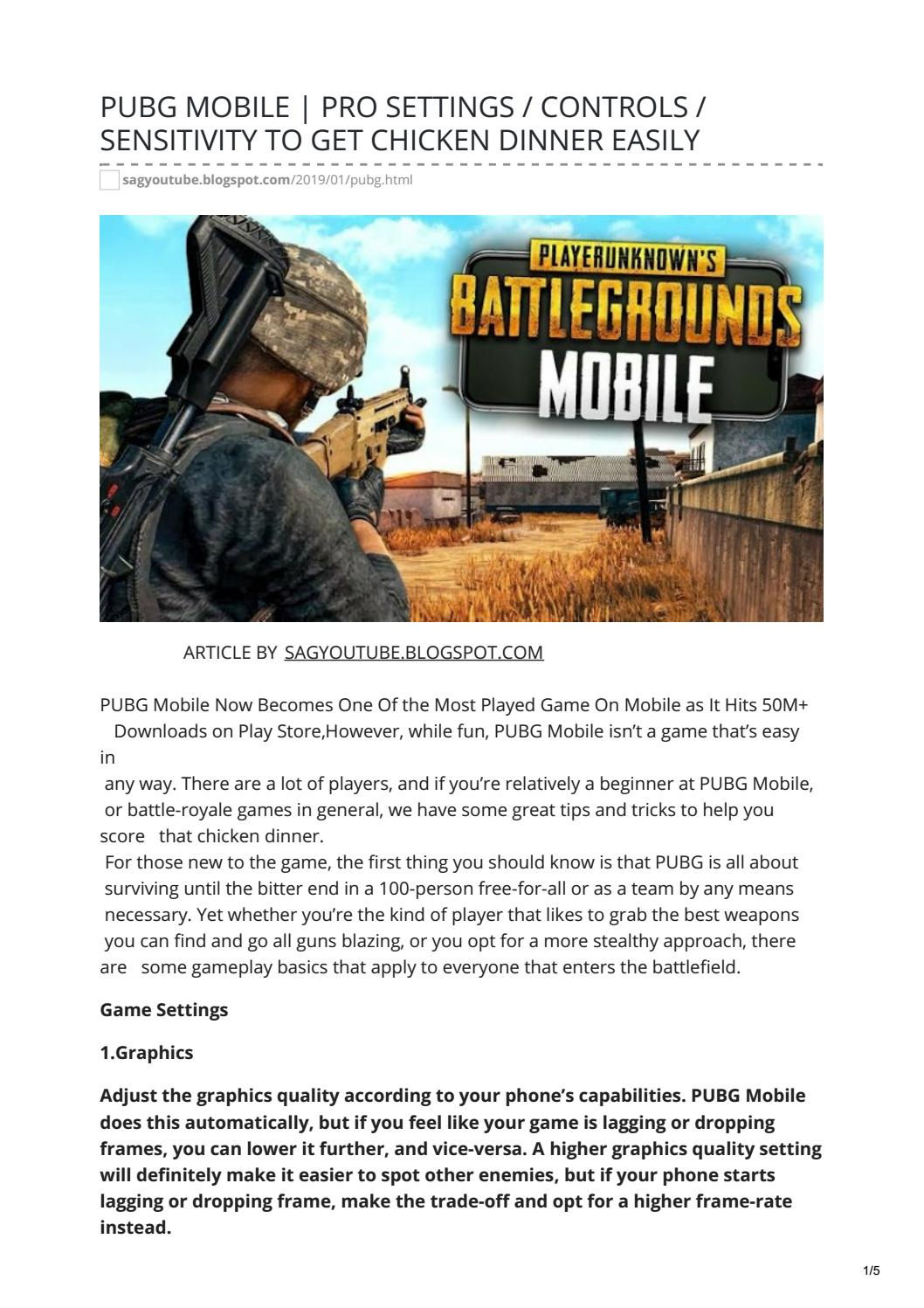 PUBG MOBILE | PRO SETTINGS / CONTROLS / SENSITIVITY TO GET