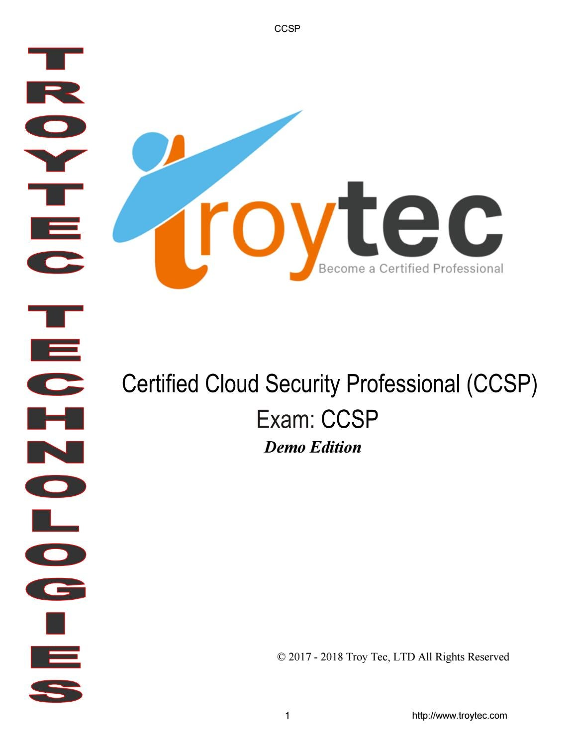 CCSP Exam-Certified Cloud Security Professional (CCSP) by