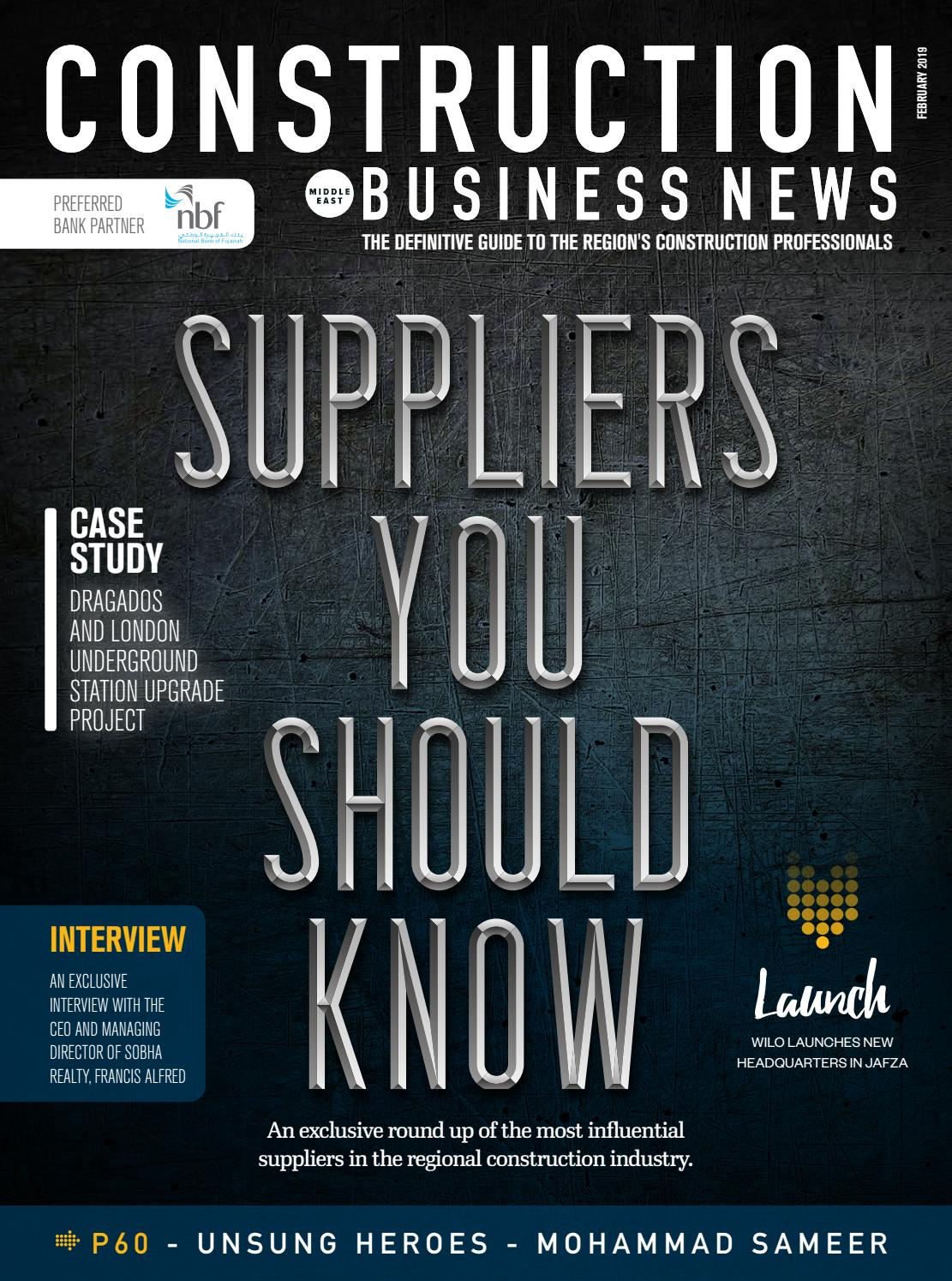 Construction Business News ME February 2019 by BNC Publishing - issuu