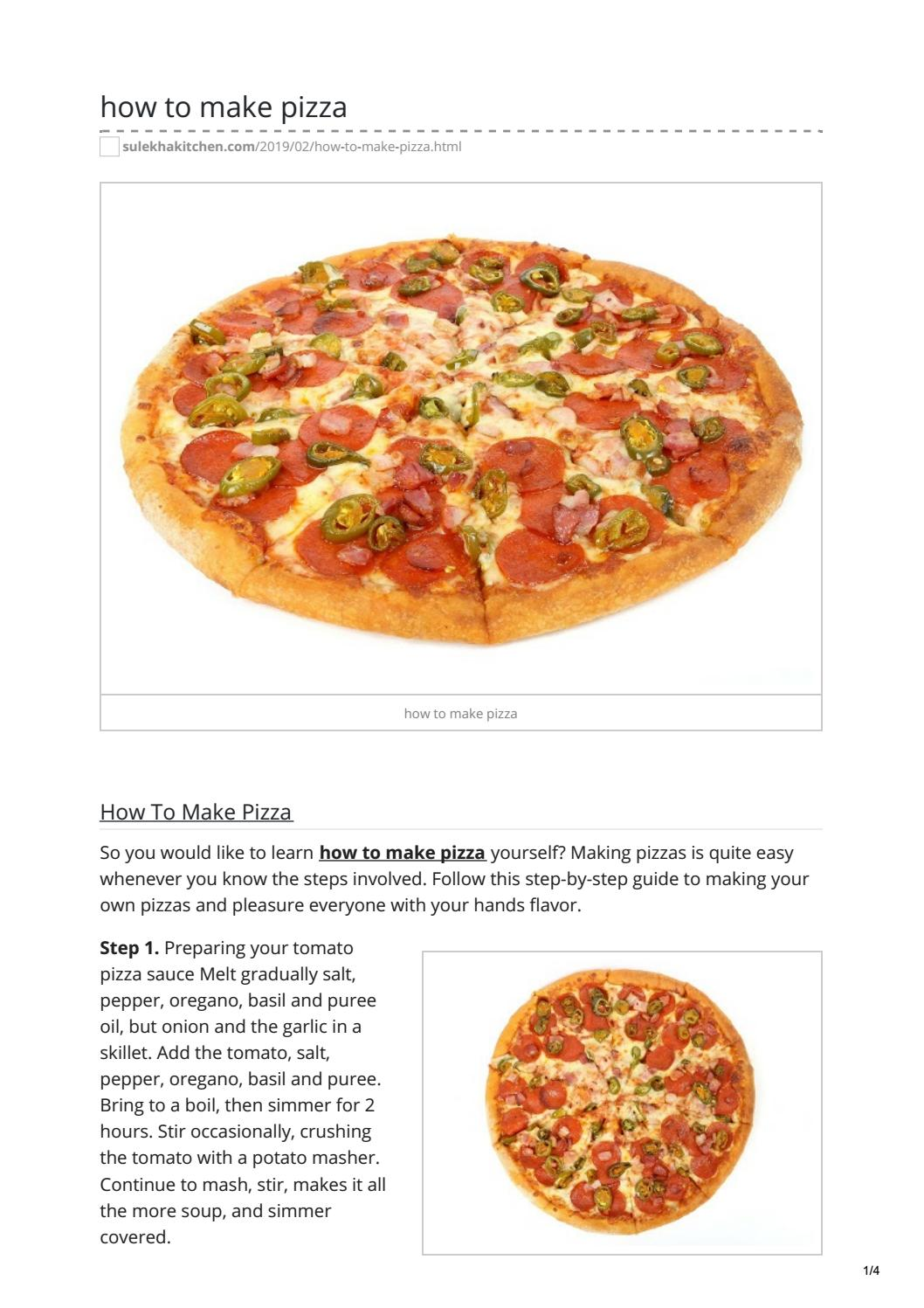 How To Make Pizza By Mi Customer Care Issuu