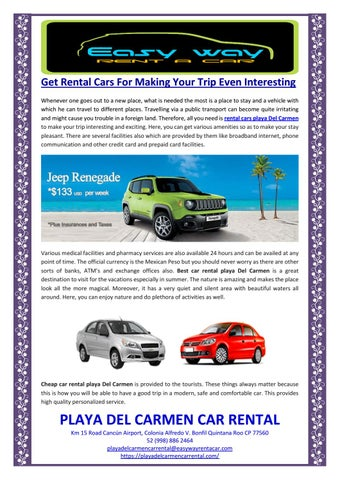 Get Rental Cars For Making Your Trip Even Interesting