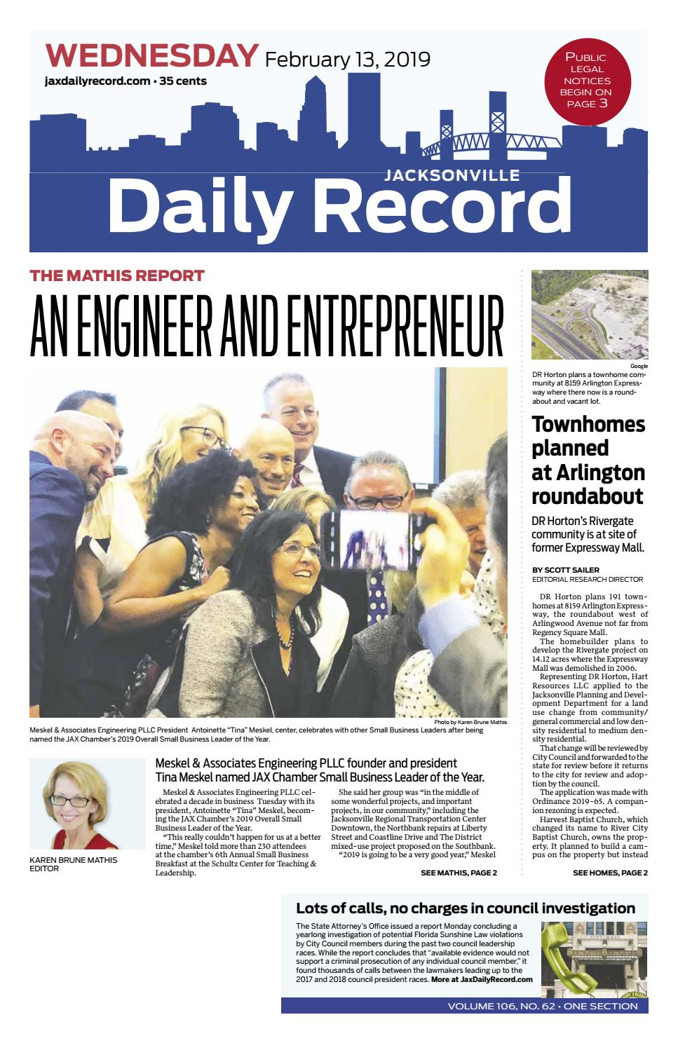 Jacksonville Daily Record 2 13 19 By Daily Record Observer Llc