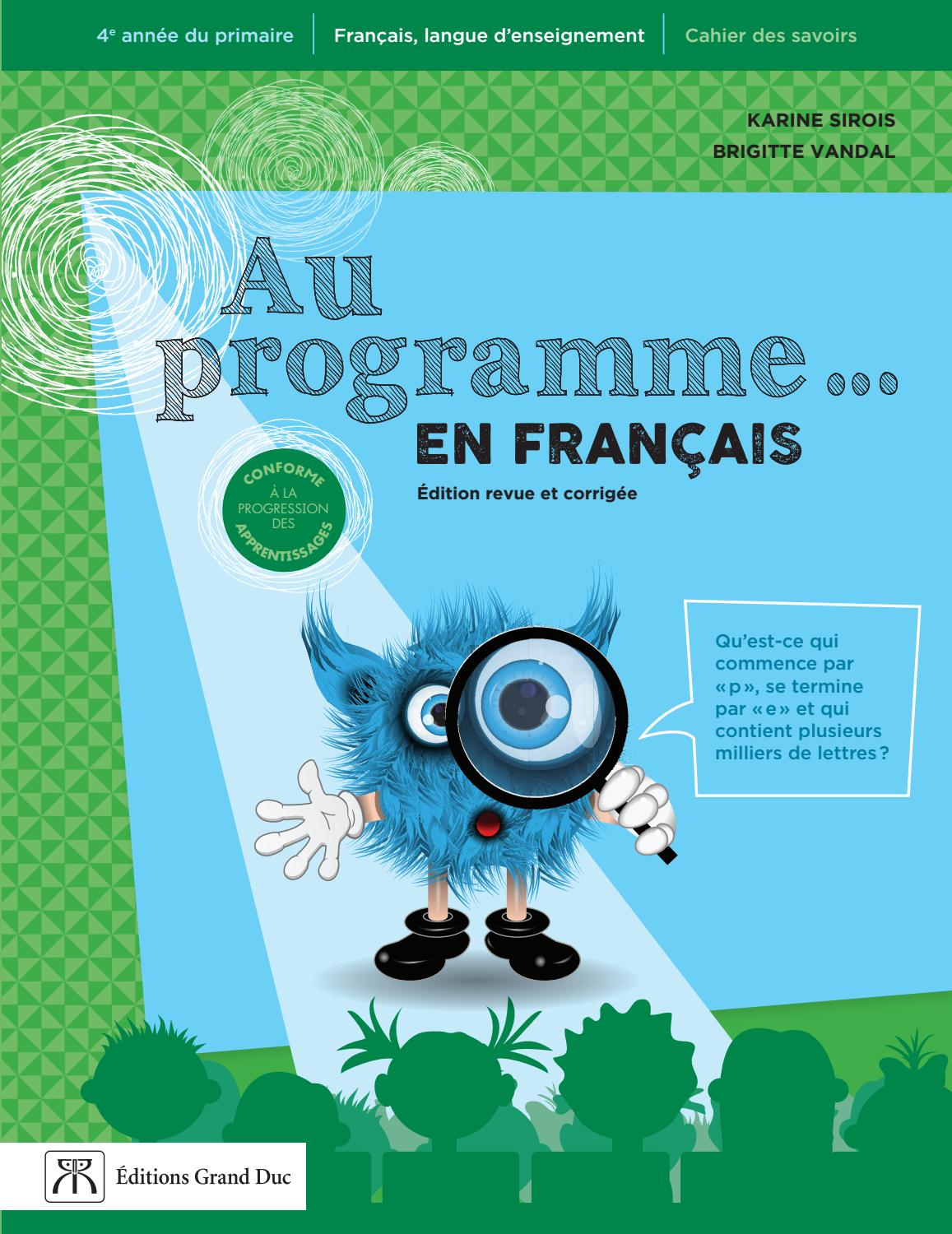 Au Programme 4e Annee By Editions Grand Duc Issuu