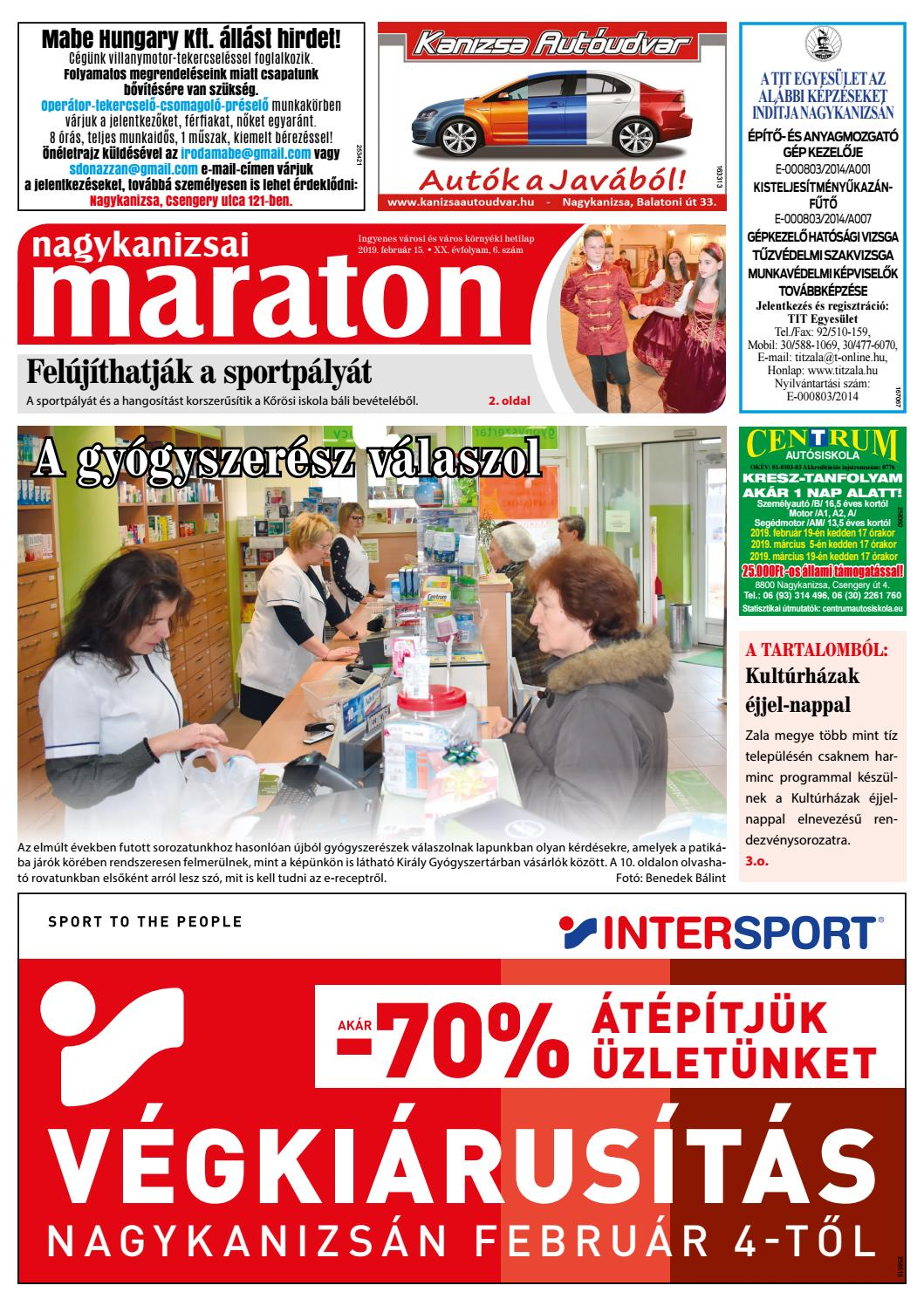 Nagykanizsai Maraton - 2019. 02. 15. by Maraton Lapcsoport Kft. - issuu 00bc41778e