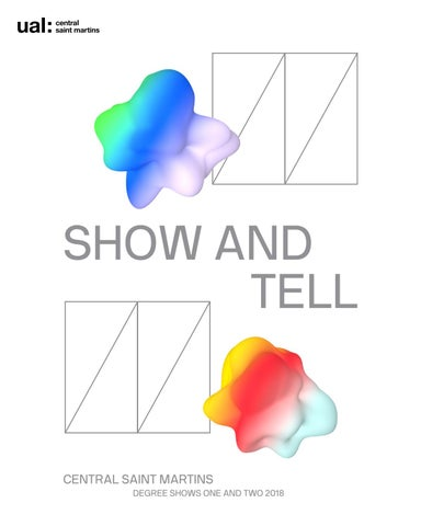 Degree Shows 2018: Show and Tell by Central Saint Martins