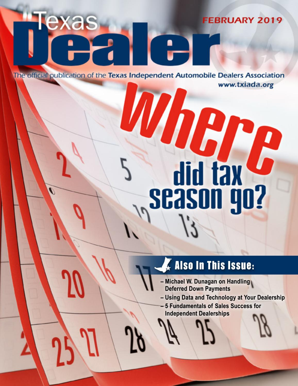 f3d77690 Texas Dealer February 2019 by Texas Independent Auto Dealers Association -  issuu