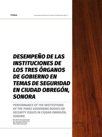 Page 5 of Desempeño de las instituciones de los tres órganos de Gobierno en temas de seguridad en Ciudad Obregón, Sonora