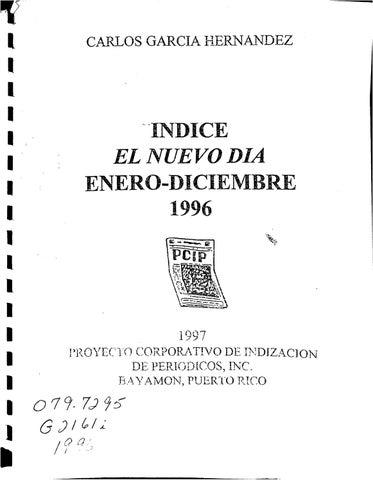 sale retailer 8667c bfdc8 Indice de El Nuevo Día 1996 by Colección Puertorriqueña UPR RP - issuu