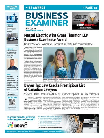 c1af155fe3 Business Examiner Victoria - February 2019 by Business Examiner ...