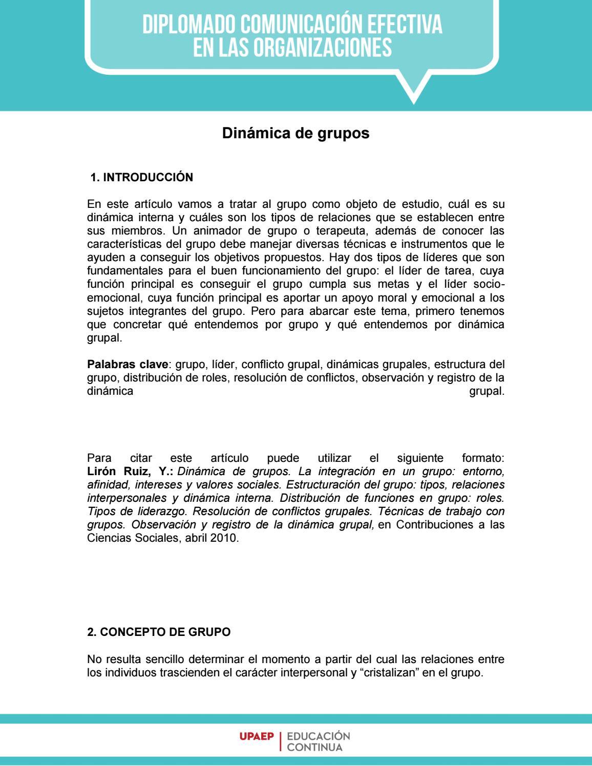 Dinámica De Grupos By Upaep Educación Continua Issuu