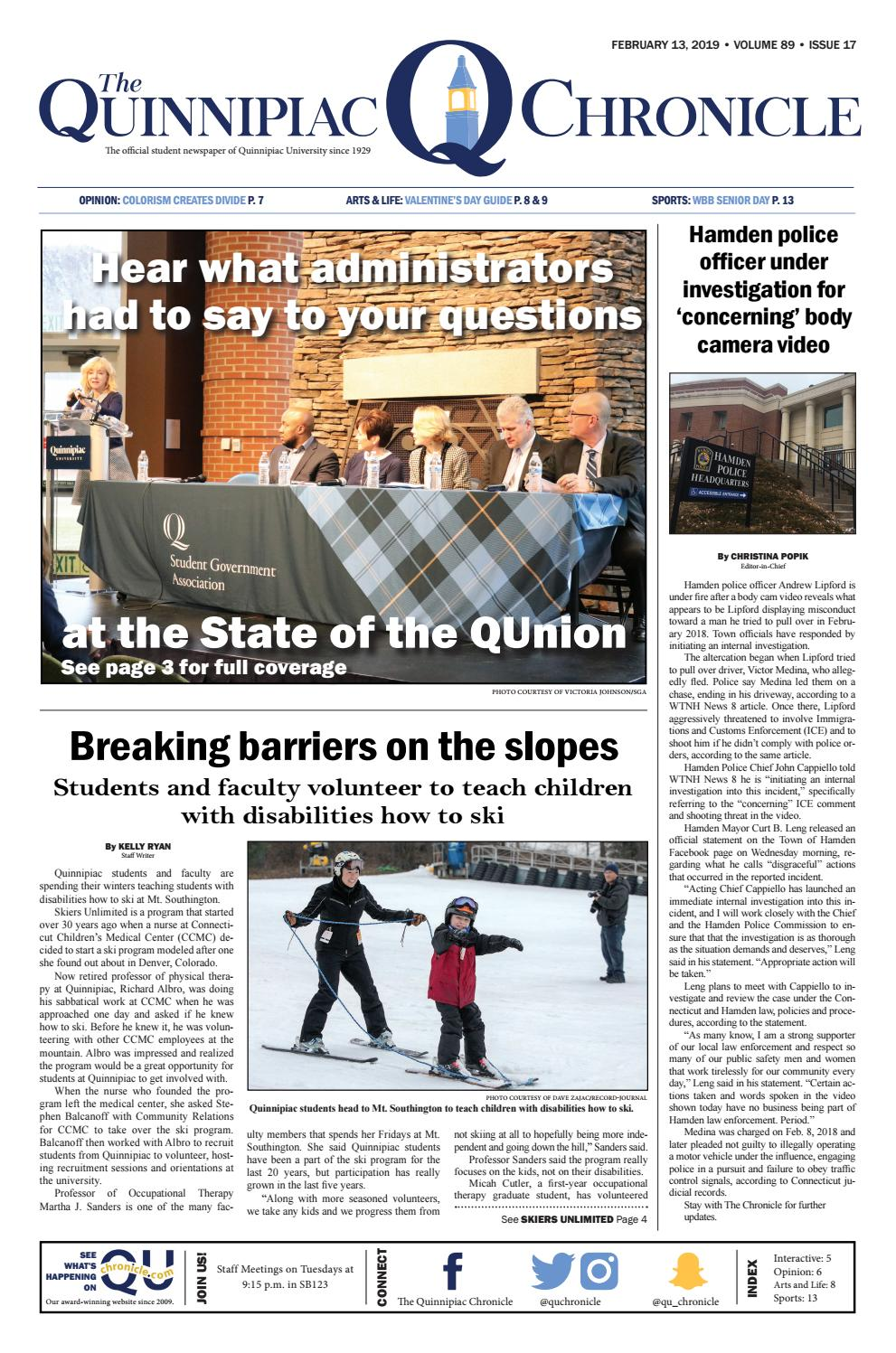 The Quinnipiac Chronicle, Issue 17 Volume 89 by The