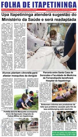 Folha de Itapetininga 14/02/2019 ( Quinta-feira)