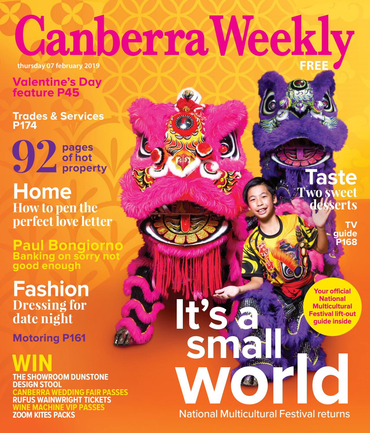 07 February 2019 By Canberra Weekly Magazine Issuu