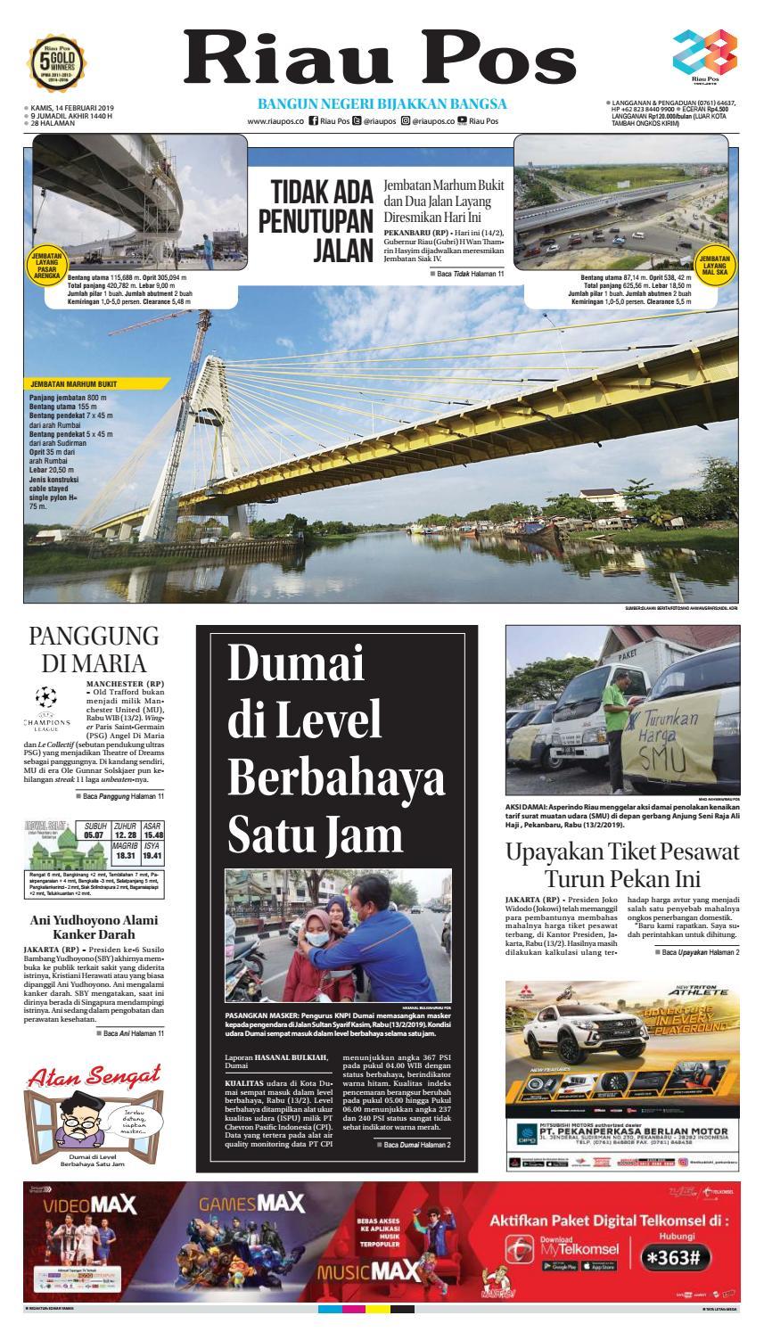 Riaupos Edisi Kamis 14 Februari 2014 By Riau Pos Issuu