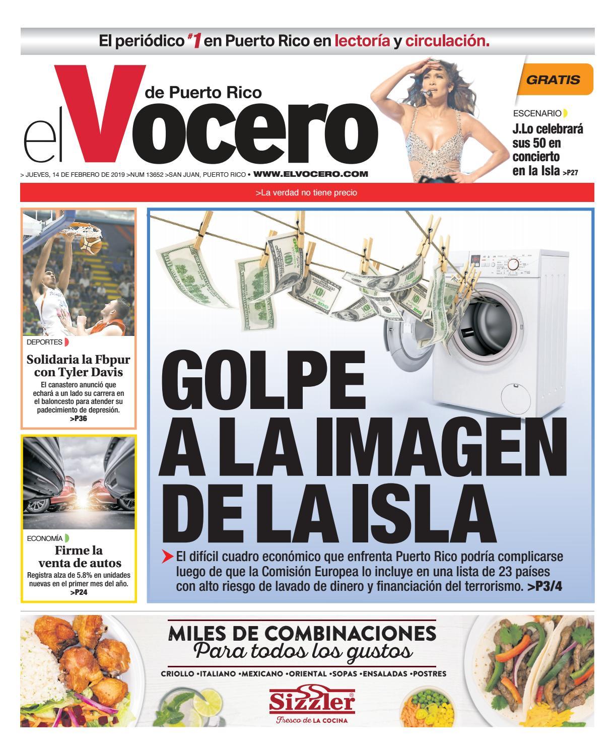 bb9fb5268 Edición del 14 de febrero de 2019 by El Vocero de Puerto Rico - issuu