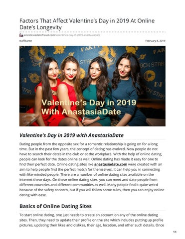 basics of dating sites