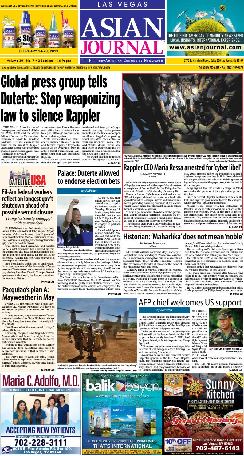021419 Las Vegas Edition By Asian Journal Community Newspapers