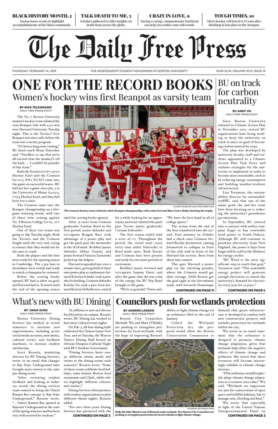 2-14-19 by The Daily Free Press - issuu 239262646