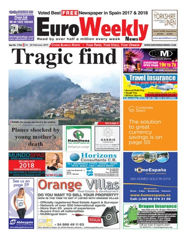Euro Weekly News - Costa Blanca North 14 - 20 Feb 2019 Issue